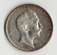MONNAIE DE 3 MARKS PRUSSEN ( ALLEMAGNE - PRUSSE ) 1910 A EN ARGENT @ SILVER COIN