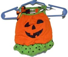 Petco Pumpkin Blouson Dress Jack-O-Lantern X-Small Dog Pet Clothes