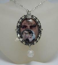 "The Goblin King necklace David Bowie quote ""It's only forever - not long at all"""