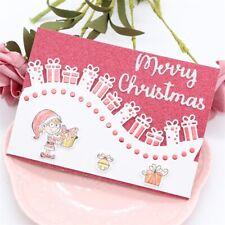 Christmas Gift Border Metal Cutting Dies Stencil Scrapbook Paper Embossing Craft