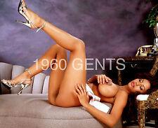 "1980s NUDE 8X10 PHOTO BUSTY BIG NIPPLES EBONY PINUP ""CONI""  FROM ORIGINAL NEG-6"