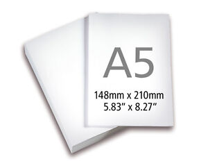 A5 HIGH QUALITY WHITE COPY PAPER 100gsm 250 SHEETS