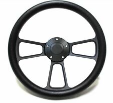 Hot Rod Black Billet Steering Wheel for Chevy, Ford, Mopar! 5 Hole Forever Sharp