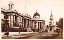 uk3863 national art gallery and st martin's church london real photo uk