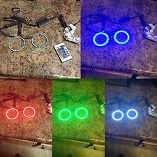 100mm projector Color Changing halo rings, rgb Halo Led Headlight Kit