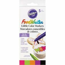 Wilton Food Writer Edible Color Markers Fine Tip .35oz 5/Pkg - Neon