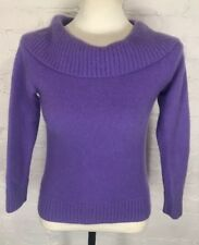 Jones New York Signature XL 100% Cashmere Sweater Purple Cowl Neck