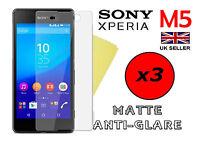 3x HQ MATTE ANTI GLARE SCREEN PROTECTOR COVER FILM GUARD FOR SONY XPERIA M5