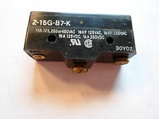 OMRON LIMIT SWITCH Z-15G-B7-K 15A 125,250or 480VAC, Missing one contact screw