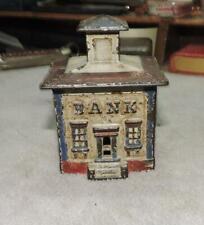 Antique CAST IRON Old Architectural BANK BUILDING Still BANK Original Paint
