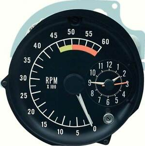 1976-78 Pontiac Firebird Tachometer Clock In Dash Gauge Assembly 6000 Redline