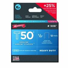 Arrow 508 Genuine T50 1/2-Inch / 12mm Staples #508 - 1250 Pack