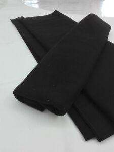 B1-Bühnenmolton, 10 lfm , schwarz, 300 cm Warenbreite