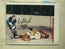 1960'S NHL HOCKEY PHOTO EDDIE ED SHACK AUTO AUTOGRAPH TORONTO MAPLE LEAFS SHARP+