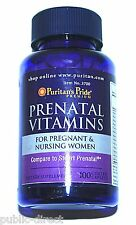 Pre and Post Natal Vitamins Pregnant & Nursing Women 100 Caplets Pills Prenatal
