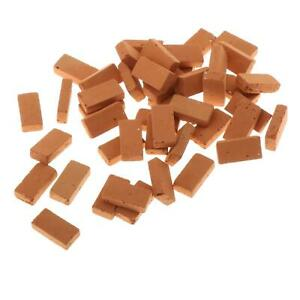 50 Packs 1/16 Scale Mini Red Brick Model Sand Table Decoration DIY Accessory
