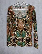 Jean Paul Gaultier Soleil Floral Geometric LS Vintage Shirt Large