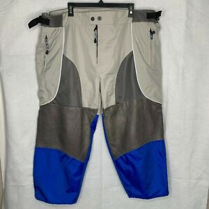 BMW Padded Armored Motorcycle Pants Size 40 XL Nylon w/ Leather Trim Adjustable