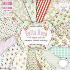 BELLA ROSE Dovecraft 6 x 6 sample paper pack 1 of each design - 16 sheets 200gsm