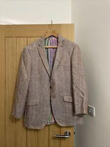 Men's ETRO Milano Linen Blend Blazer Jacket U.K. 42 EU 52