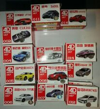 4D Model Kit Car Suitable for 1/87 OO / HO Gauge -13  Different Styles