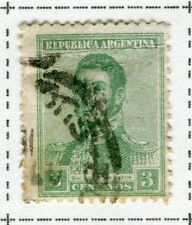 ARGENTINA;  1917 early San Martin issue fine used 3c. value