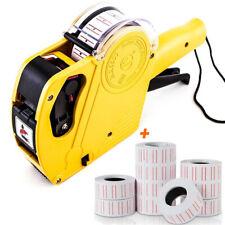 8 Digit Mx 5500 Eos Price Tag Gun Pricing Date Label Maker Amp 10 Roll Sticker Set
