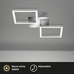 LED Deckenleuchte drehbar Metall-Kunststoff chrom-silber IP20 Briloner Leuchten