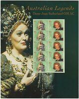 2004 STAMP MINI SHEET/PACK 'AUST LEGENDS - DAME JOAN SUTHERLAND' - 10 x 50c MNH