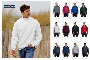 JERZEES Quarter Zip Cadet Collar Sweatshirt 50/50 Mens Fleece S-3XL 4528M
