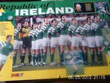 republic of Ireland & Eire team group + jack charlton colour A3