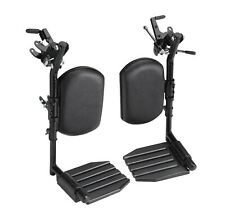 Invacare Wheelchair Elevating Legrests, Footplates, Padded Calf Pads