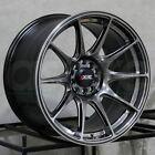 XXR 527 18x8 5x108/5x112 42 Chromium Black Wheels(4) 73.1 18