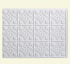 Kitchen Backsplash White Decorative Vinyl Panel Wall Tiles Bathroom Bath Plastic