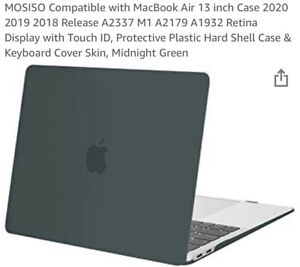Mac Book Hard Case MOSISO MacBook Pro 13 inch 2018-2020 Midnight Green