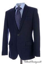 J CREW Ludlow Blue Striped Flannel Wool Center Vent Jacket Pants SUIT - 36 S