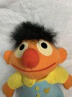 Vintage 1984 Sesame Street Muppet Plush Beddy Bye Ernie Doll - Playskool