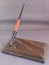 Parker Duofold Desk Set with orange desk pen--medium point