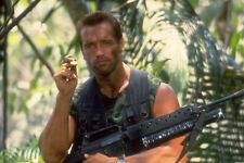 ARNOLD SCHWARZENEGGER PREDATOR 24X36 POSTER WITH MACHINE GUN AND CIGAR COOL ICON