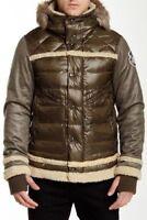 """Men`s JET LAG Genuine Hooded Down Jacket Size 3XL 48"""" Olive Puffer Parka"""