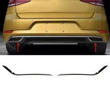 2 x Chrom Rahmen Abdeckung Edelstahl Auspuff R-Look für VW Golf 7+ Sportsvan A14