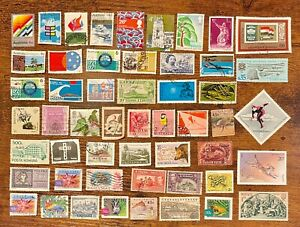 [Lot 345] 100 Assorted Worldwide Stamp Collection Off Paper - All Stamps Shown!