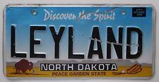 North Dakota 2000 VANITY License Plate LELAND