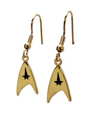 Star Trek Original Series Command Logo Goldtone FRENCH WIRE Earrings
