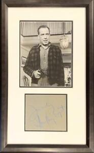 Early Humphrey Bogart Signed Autograph Display. Rare, circa Late 1940s. PSA