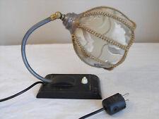 antike Nachtischlampe Bakelit,  Tischlampe, Art Deco, Mohn
