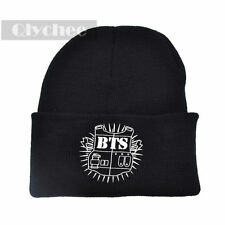 1 Pc KPOP Bangtan Boys BTS Beanie Hip-Hop Black Knit Hat  Unisex Winter Warm Cap