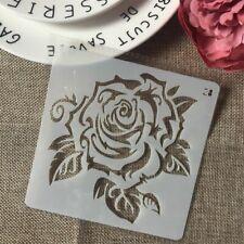 Rose Flower DIY Stencils Wall Painting Scrapbook Album Decorative Card Template