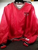VINTAGE CHICAGO BULLS DELONG 100% NYLON PULLOVER JACKET XXL FROM 1990
