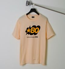 STUSSY LOGO MENS FASHION STREETWEAR SCREEN PRINTED LOGO 80 STAR PINK TEE S-XL